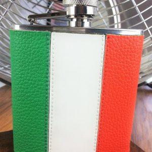 Classic Irish Tricolour Hip Flask