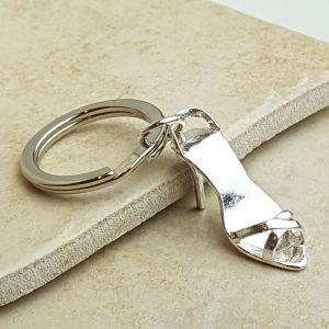 Silver Stiletto Key Ring