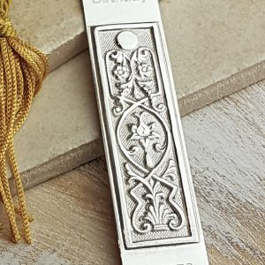Personalised Silver Art Nouveau Bookmark