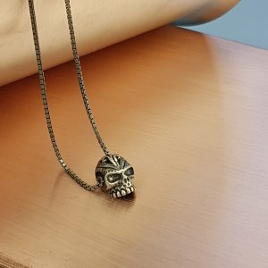 Sugar Skull Silver Pendant