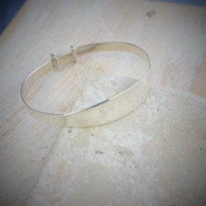 Personalised Solid Silver Baby Bangle