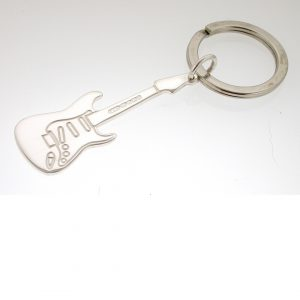 Personalised Silver Electric Guitar Key Ring