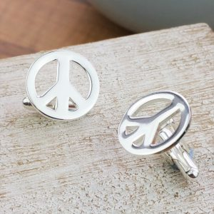 Silver Campaign For Nuclear Disarmament Peace Cufflinks