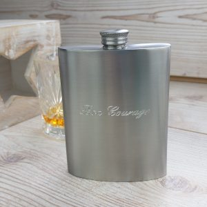 Personalised Bon Voyage Distressed Kidney Hip Flask