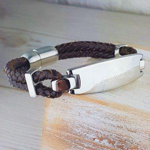 Personalised Chestnut Brown Infinity Bracelet