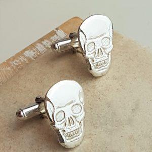 Scealu Silver Skull Cufflinks