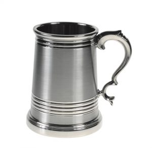 Personalised Ultra Heavy Weight Worcester Pint Satin Pewter Tankard