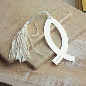 Silver Ichthys Bookmark