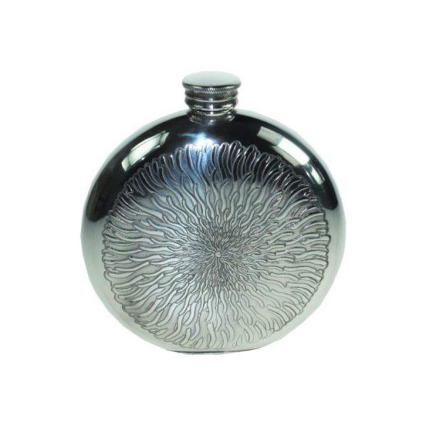 Engraved Sunfish Hip Flask