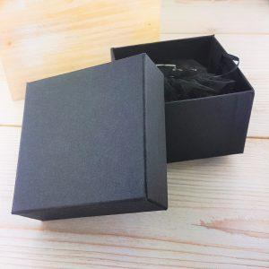 Personalised Midnight Black Leather