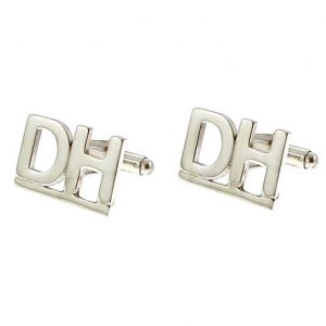 Double Initial Silver Cufflinks