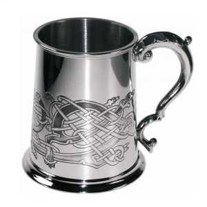 Personalised Celtic Birds Pewter Tankard