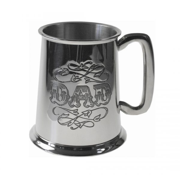 Personalised Dad Pint Pewter Tankard