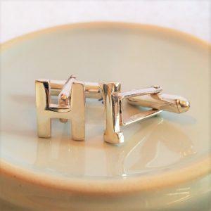 Silver Alphabet Initial Cufflinks