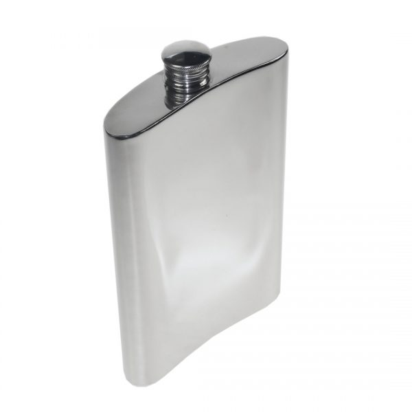 Personalised 10 oz Plain Pewter Kidney Hip Flask