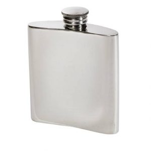 Personalised 3 oz Plain Pewter Kidney Hip Flask