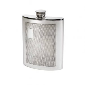 Personalised 6 oz Barley Pewter Kidney Hip Flask