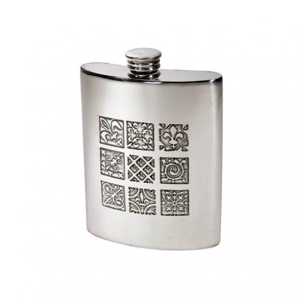 Personalised 6 oz Medieval Pewter Kidney Hip Flask