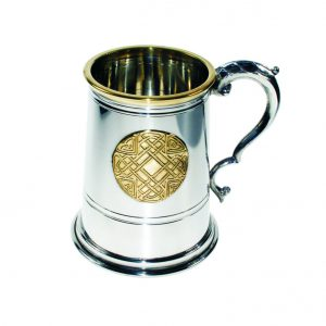 Personalised Celtic Gold One Pint Pewter Tankard