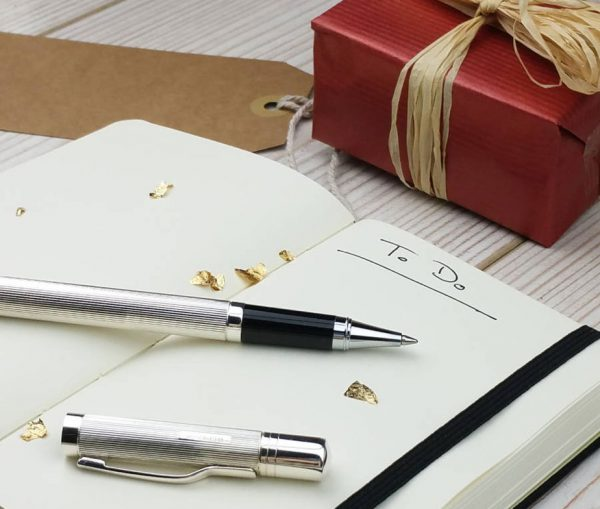 Earl Silver Lidded Rollerball Pen & Gift Box with Free Engraving
