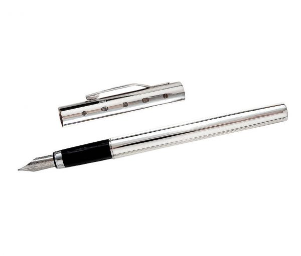 Joe Mason Sterling Silver Fountain Pen & Gift Box with Free Engraving