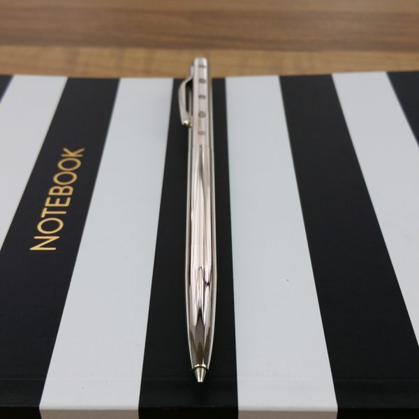 Joe Mason Silver Rollerball Pen & Gift Box with Free Engraving