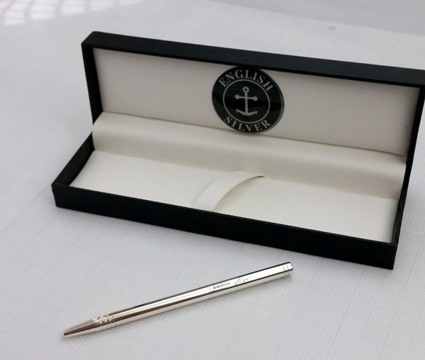 Personalised Silver Notebook Pen & Gift Box with Free Engraving
