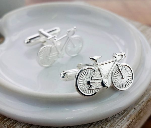 Sterling Silver Bicycle Bike Cycling Cufflinks with Presentation Box