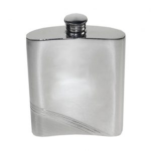 Personalised Diagonal Stripe Hip Flask with Free Engraving