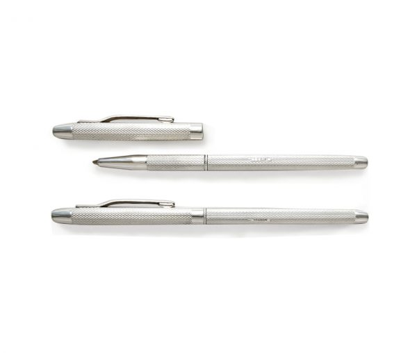 Manton Ladies Silver Lidded Rollerball Pen & Gift Box with Free Engraving