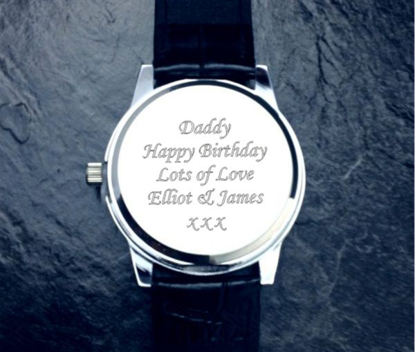 Personalised Boston Gent's Watch & Gift Box with Free Engraving