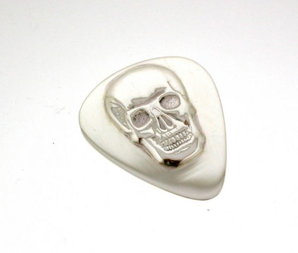 Sterling Silver Dauthuz Skull Plectrum with Free Engraving