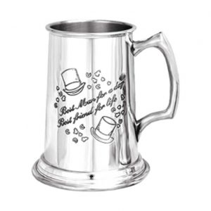Personalised Best Man Pewter Tankard