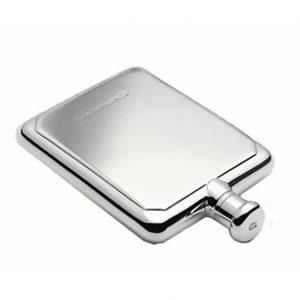 Silver Rectangular Engraved Hip Flask with Free Engraving