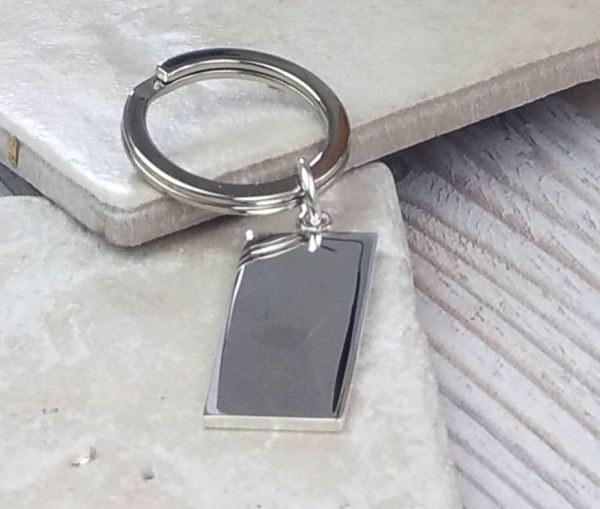 Ikon Hallmarked And Personalised Silver Keyring with Free Engraving