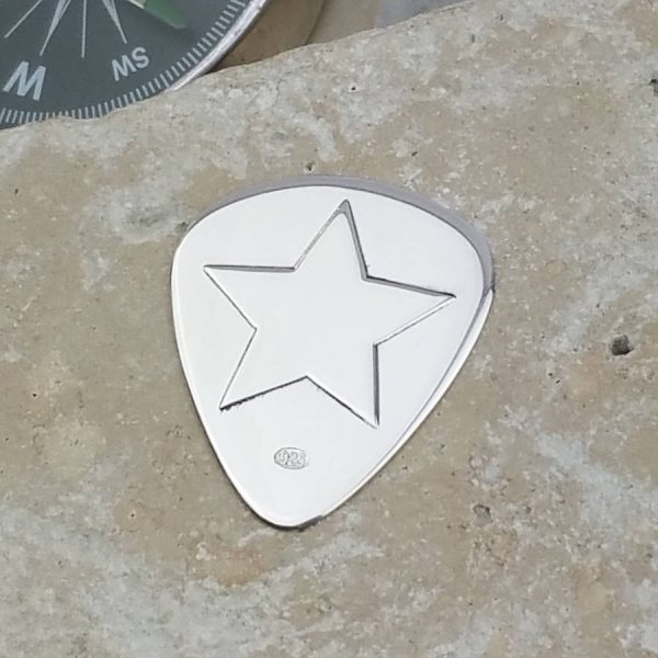 Personalised Silver Rock Star Plectrum