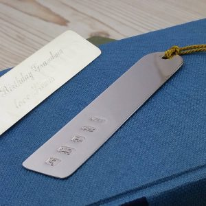 Personalised Sterling Silver Arch Bookmark