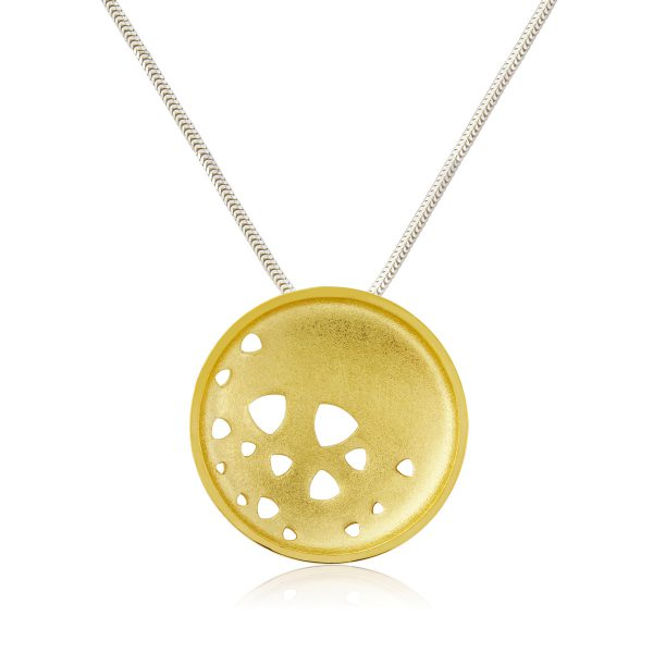 Hard Gold Plated Scattered Trilliant Necklace