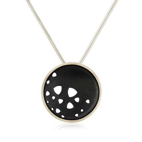 Silver Oxidised Scattered Trilliant Necklace