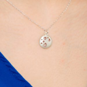 Scattered Trillions Silver Pendant Necklace