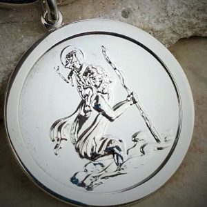 Personalised Saint Christopher Key Ring