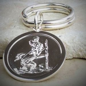 Personalised Saint Christopher Key Ring