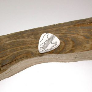 Personalised Silver Electric Guitar Plectrum