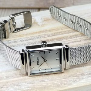 Personalised Silver Ladies Watch With Detailed Strap