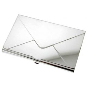 Silver Envelope Business Card Holder