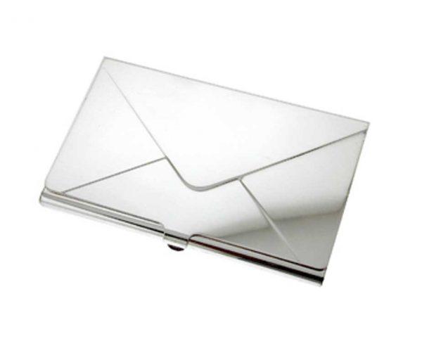 Silver Envelope Business Card Holder
