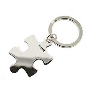 Sterling Silver Jigsaw Keyring