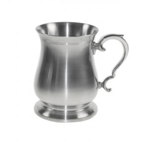 Personalised Extra Heavy Gauge Satin Pewter Tankard