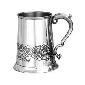 Personalised Classic Celtic Pewter Tankard