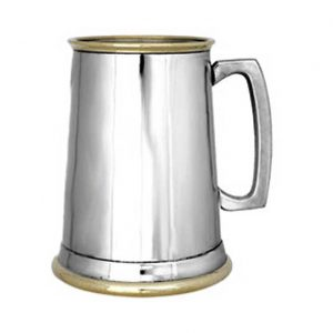 Personalised One Pint Straight Pewter Tankard